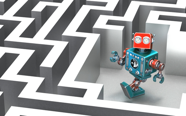 Robot i labyrint  kirill makarov  shutterstock 338156243